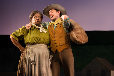"Judith Skinner as Aunt Eller and Michael Roach as Will Parker in The Glimmerglass Festival's 2017 production of Rodgers and Hammerstein's ""Oklahoma!"" Photo: Karli Cadel/The Glimmerglass Festival"
