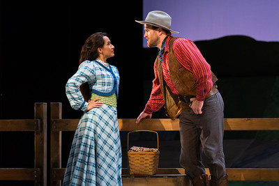 "Vanessa Becerra as Laurey and Jarrett Ott as Curly in The Glimmerglass Festival's 2017 production of Rodgers and Hammerstein's ""Oklahoma!"" Photo: Karli Cadel/The Glimmerglass Festival"