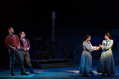 "L to R: Jarrett Ott as Curly, Ezekiel Edmonds as Dream Curly, Olivia Barbieri as Dream Laurey and Vanessa Becerra as Laurey in The Glimmerglass Festival's 2017 production of Rodgers and Hammerstein's ""Oklahoma!"" Photo: Karli Cadel/The Glimmerglass Festival"