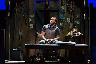 "Michael Hewitt as Jud Fry in The Glimmerglass Festival's 2017 production of Rodgers and Hammerstein's ""Oklahoma!"" Photo: Karli Cadel/The Glimmerglass Festival"