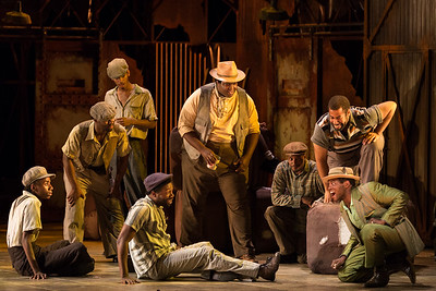 "Frederick Ballentine as Sportin' Life (right) with members of the ensemble in The Glimmerglass Festival's 2017 production of The Gershwins' ""Porgy and Bess."" Photo: Karli Cadel/The Glimmerglass Festival"
