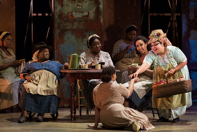 "Jasmin White as the Strawberry Woman (right) in The Glimmerglass Festival's 2017 production of The Gershwins' ""Porgy and Bess."" Photo: Karli Cadel/The Glimmerglass Festival"