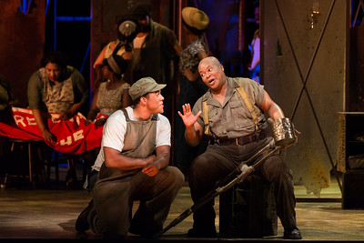 "Justin Austin as Jake and Musa Ngqungwana as Porgy in The Glimmerglass Festival's 2017 production of The Gershwins' ""Porgy and Bess."" Photo: Karli Cadel/The Glimmerglass Festival"