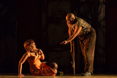 "Talise Trevigne as Bess and Musa Ngqungwana as Porgy in The Glimmerglass Festival's 2017 production of The Gershwins' ""Porgy and Bess."" Photo: Karli Cadel/The Glimmerglass Festival"