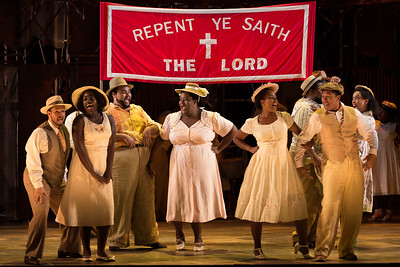 "The ensemble in The Glimmerglass Festival's 2017 production of The Gershwins' ""Porgy and Bess."" Photo: Karli Cadel/The Glimmerglass Festival"