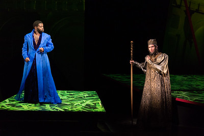 "John Holiday as Xerxes and Brent Michael Smith Ariodates in The Glimmerglass Festival's 2017 production of Handel's ""Xerxes."" Photo: Karli Cadel/The Glimmerglass Festival"
