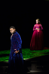 "John Holiday as Xerxes and Emily Pogorelc as Romilda in The Glimmerglass Festival's 2017 production of Handel's ""Xerxes."" Photo: Karli Cadel/The Glimmerglass Festival"