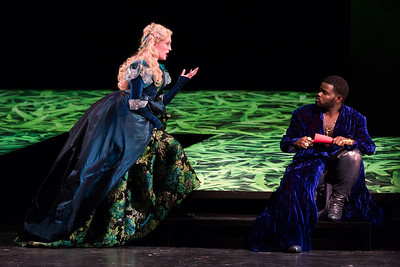 "Katrina Galka as Atalanta and John Holiday as Xerxes in The Glimmerglass Festival's 2017 production of Handel's ""Xerxes."" Photo: Karli Cadel/The Glimmerglass Festival"