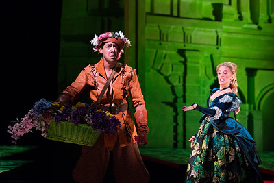 "Calvin Griffin as Elviro and Katrina Galka as Atalanta in The Glimmerglass Festival's 2017 production of Handel's ""Xerxes."" Photo: Karli Cadel/The Glimmerglass Festival"