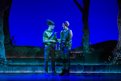 "Henry Wager as Robin Hood and Catie LeCours as Marion in The Glimmerglass Festival's world-premiere youth opera, ""Robin Hood."" Photo: Karli Cadel/The Glimmerglass Festival"