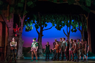 "L to R from top: Kayleigh Decker as Scarlet, Catie LeCours as Marion, Henry Wager as Robin Hood and members of the Merry Band in The Glimmerglass Festival's world-premiere youth opera, ""Robin Hood."" Photo: Karli Cadel/The Glimmerglass Festival"