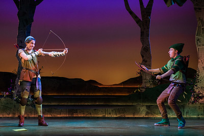 "Catie LeCours as Marion and Henry Wager as Robin Hood in The Glimmerglass Festival's world-premiere youth opera, ""Robin Hood."" Photo: Karli Cadel/The Glimmerglass Festival"