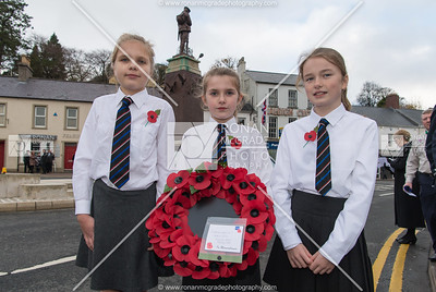 Macey Pancott, Caitlin Fossett-Higgins and Rebecca Doherty representing Enniskillen Model Primary School.  Picture: Ronan McGrade