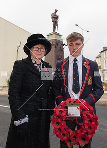 Alexander Parke representing Enniskillen Royal Grammar School with his mum Edel.  Picture: Ronan McGrade