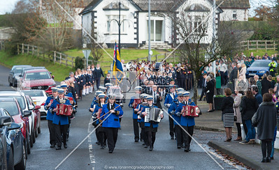 Ballinamallard Accordian Band leads the parade.  Picture: Ronan McGrade