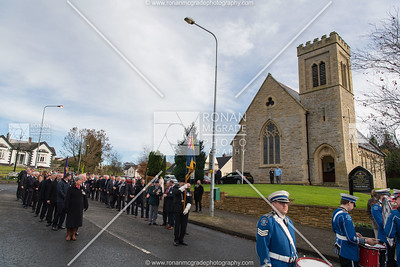 The parade sets off from Ballinamallard Methodist Church.  Picture: Ronan McGrade