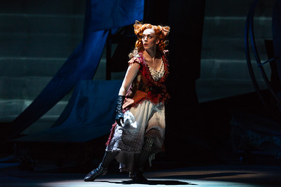 "Joanna Latini as the Vixen in The Glimmerglass Festival's 2018 production of Janáček's ""The Cunning Little Vixen."" Photo: Karli Cadel/The Glimmerglass Festival"