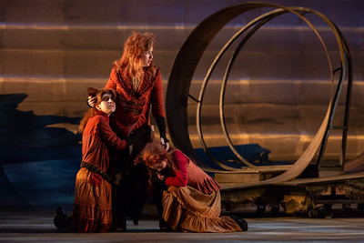 "L to R: Catie LeCours, Alyssa Martin and Maggie Stephens as kits in The Glimmerglass Festival's 2018 production of Janáček's ""The Cunning Little Vixen."" Photo: Karli Cadel/The Glimmerglass Festival"