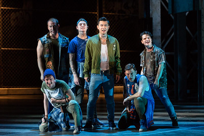 "Tucker Reed Breder as Big Deal, Michael Hewitt as Diesel, Brian Vu as Riff, Tyler Whitaker as Baby John, Conor McDonald as Snowboy in The Glimmerglass Festival's 2018 production of Bernstein's ""West Side Story."" Photo: Karli Cadel/The Glimmerglass Festival"
