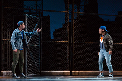 "PJ Palmer as Action and Anju Cloud as Anybodys  in The Glimmerglass Festival's 2018 production of Bernstein's ""West Side Story."" Photo: Karli Cadel/The Glimmerglass Festival"