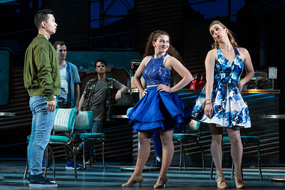 "Brian Vu as Riff, Rachel Kay as Graziella and Joanna Latini as Velma in The Glimmerglass Festival's 2018 production of Bernstein's ""West Side Story."" Photo: Karli Cadel/The Glimmerglass Festival"