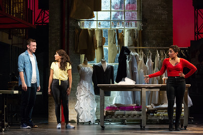 """Joseph Leppek as Tony, Vanessa Becerra as Maria and Amanda Castro as Anita in The Glimmerglass Festival's 2018 production of Bernstein's """"West Side Story."""" Photo: Karli Cadel/The Glimmerglass Festival"""