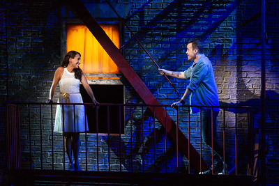 "Vanessa Becerra as Maria and Joseph Leppek as Tony in The Glimmerglass Festival's 2018 production of Bernstein's ""West Side Story."" Photo: Karli Cadel/The Glimmerglass Festival"