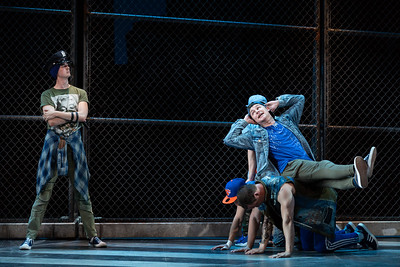 """L to R: Tucker Reed Breder as Big Deal and PJ Palmer as Action in The Glimmerglass Festival's 2018 production of Bernstein's """"West Side Story."""" Photo: Karli Cadel/The Glimmerglass Festival"""