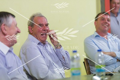 Fred Walsh, Sean Quinn and Enda Corrigan at the meeting in Ballyconnell on Tuesday evening.  Picture: Ronan McGrade