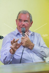 Sean Quinn at the meeting in Ballyconnell on Tuesday evening.  Picture: Ronan McGrade
