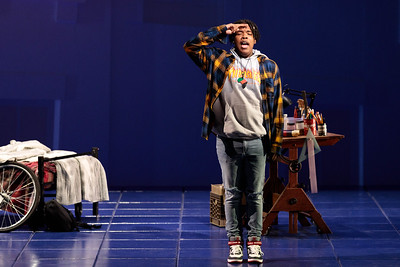 """Aaron Crouch as The Son in The Glimmerglass Festival's 2019 world premiere of Jeanine Tesori and Tazewell Thompson's """"Blue."""" Photo: Karli Cadel/The Glimmerglass Festival"""
