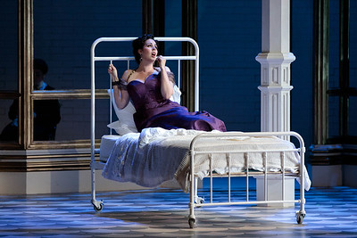 "Amanda Woodbury as Violetta in The Glimmerglass Festival's 2019 production of ""La traviata."" Photo: Karli Cadel/The Glimmerglass Festival"