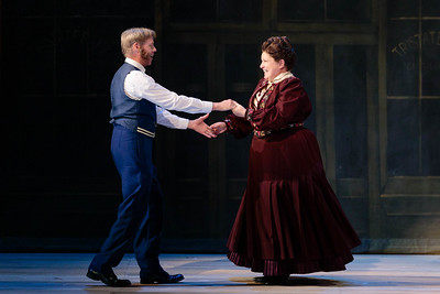 "Lara Teeter as Cap'n Andy and Klea Blackhurst as Parthy Ann Hawks in The Glimmerglass Festival's 2019 production of ""Show Boat."" Photo Credit: Karli Cadel/The Glimmerglass Festival"