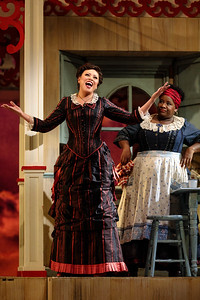 "(From left) Alyson Cambridge as Julie La Verne and Judith Skinner as Queenie  in The Glimmerglass Festival's 2019 production of ""Show Boat."" Photo Credit: Karli Cadel/The Glimmerglass Festival"