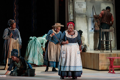 "Judith Skinner as Queenie and members of the ensemble in The Glimmerglass Festival's 2019 production of ""Show Boat."" Photo Credit: Connor Lange/The Glimmerglass Festival"