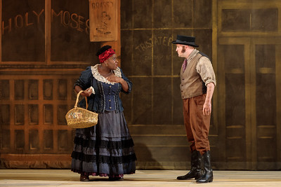 "Judith Skinner as Queenie and Spencer Hamlin as Pete in The Glimmerglass Festival's 2019 production of ""Show Boat."" Photo Credit: Connor Lange/The Glimmerglass Festival"