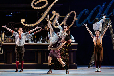 "(From left) Tucker Reed Breder, Haley Ayers, Spencer Britten and Joshua Kring in The Glimmerglass Festival's 2019 production of ""Show Boat."" Photo Credit: Karli Cadel/The Glimmerglass Festival"