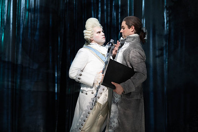 Peter Morgan as King Louis XVI and Jonathan Bryan as Beaumarchais in The Glimmerglass Festival's 2019 production of The Ghosts of Versailles. Photo: Karli Cadel/The Glimmerglass Festival