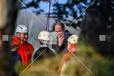 Prince William and Kate Middleton visited Roscor Youth Village in Fermanagh where they took part in a range of activities and met with local young people, volunteers, staff and dignitaries.  Picture: Ronan McGrade