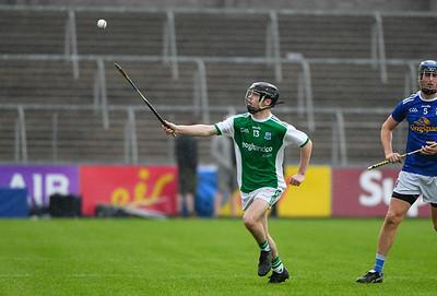Caolan Duffy makes a break along the wing.  Photo: Ronan McGrade