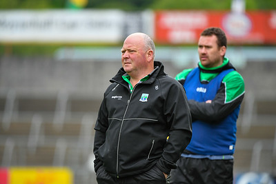 Fermanagh manager Sean Duffy on the sideline.  Photo: Ronan McGrade