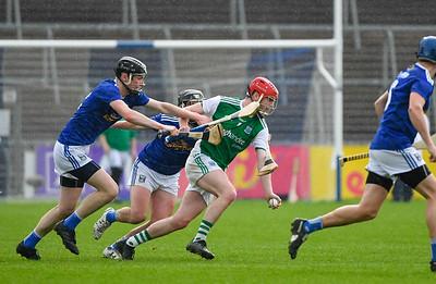 Conor McShea makes a break for Fermanagh.  Photo: Ronan McGrade