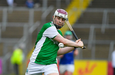 Barry McPhilips launches a shot at the Cavan uprights.  Photo: Ronan McGrade