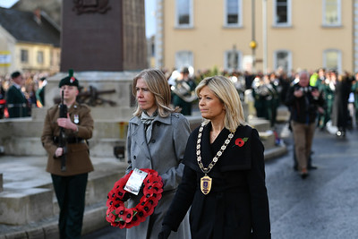 The Remembrance Sunday service at Enniskillen Cenotaph.  Picture: Ronan McGrade/Pacemaker