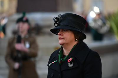 DUP leader Arlene Foster in Enniskillen for the Remembrance Sunday service.  Picture: Ronan McGrade/Pacemaker
