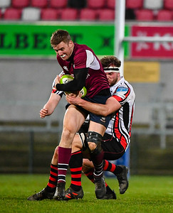 Mark O'Shea is tackled.  Picture: Ronan McGrade