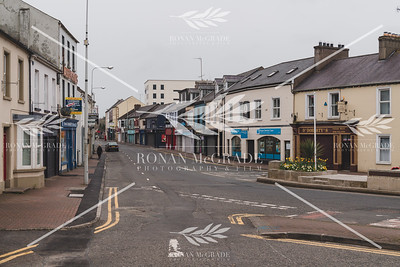 A quiet Belmore Street, Enniskillen on Easter Sunday morning.  Picture: Ronan McGrade