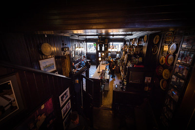 Punters enjoy a pint at Blakes of the Hollow, Enniskillen, as the well known pub prepares to close its doors once again.  Picture: Ronan McGrade