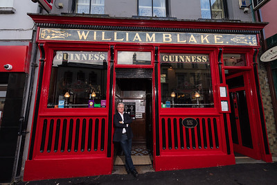 Pat Blake of Blakes of the Hollow, Enniskillen gets ready to close his pub once again.  Picture: Ronan McGrade