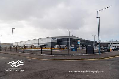 The Amazon warehouse located in the Belfast harbour area.  Picture: Ronan McGrade